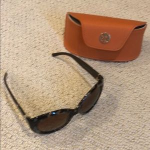 Tory Burch Tortoise sunglasses with case